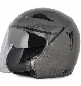Vega Eclipse Half Helmet, Mat Grey colour with visor