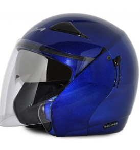 Vega Ellipse half Helmet ,Blue Colour with visor