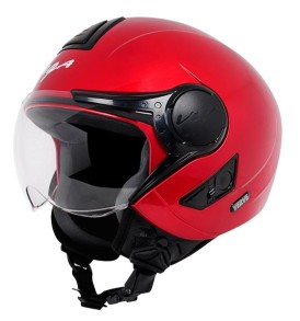 Vega Verve half for ladies helmet, Cherry Red colour