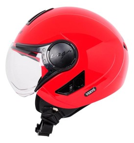 Vega Verve half for ladies helmet, Red colour