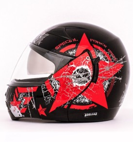 Boolean Navy Black Base With Red Graphic Helmet