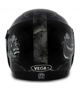 Boolean Escape Dull Black Base With Silver Graphic Helmet