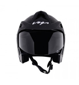 Crux Open Face Black Helmet