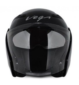 Vega Eclipse Black Half Helmet