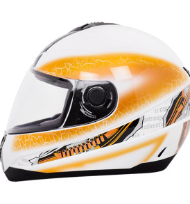 Gliss Gear White Base With Blue Orange Helmet
