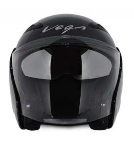 Vega Eclipse Half  Monster Army Black Base With Silver Graphic Helmet