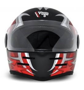 Formula Hp Moto Craft Black Base With Red Graphic Helmet