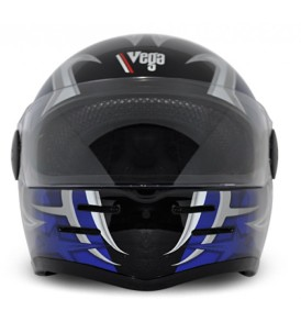 Formula Hp Moto Craft Black Base With Blue Graphic Helmet