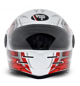 Formula Hp Moto Craft White Base With Red Graphic Helmet