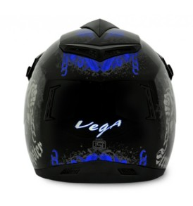 Off Road D/V Gangster Black Blue Helmet
