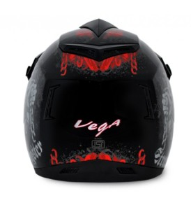 Off Road D/V Gangster Black Orange Helmet