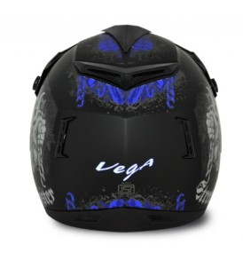 Off Road  Gangster Dull Black Blue Helmet