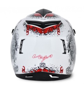 Off Road D/V Gangster White Red Helmet