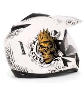 Off Road D/V Ranger White Base With Gold Graphic Helmet