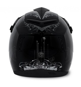 Off Road D/V Sketch Black Base With Silver Graphic Helmet
