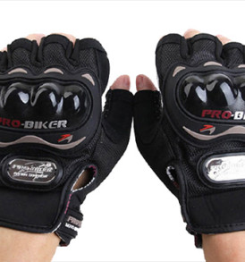 ProBiker Half Gloves red