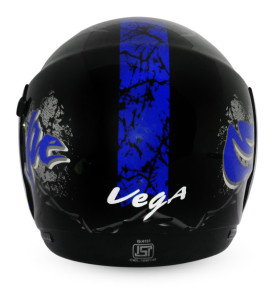 Boolean Escape Black Base With Blue Graphic Helmet