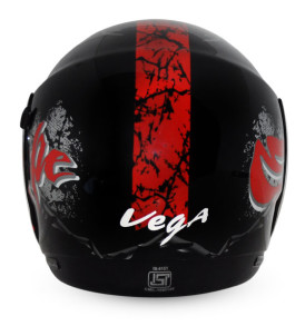 Boolean Escape Black Base With Red Graphic Helmet