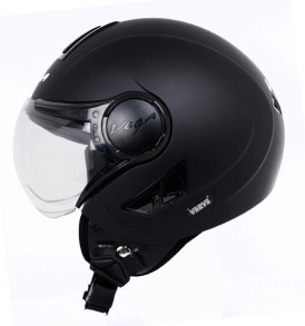 Vega Verve half for ladies helmet, Mat Black Colour