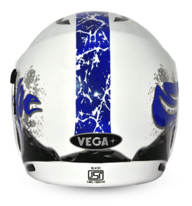 Boolean Escape White Base With Blue Graphic Helmet