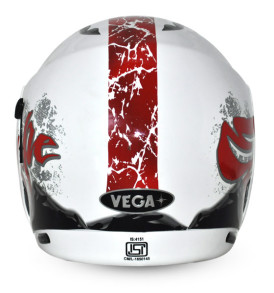 Boolean Escape White Base With Red Graphic Helmet