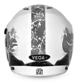 Boolean Escape White Base With Silver Graphic Helmet