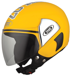 Studds half helmet CUB 07 DECOR Yellow